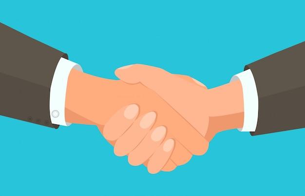 Acuerdo comercial, apretón de manos