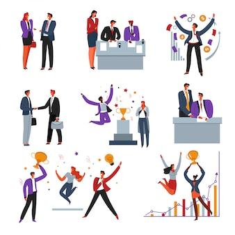 Acuerdo y encendido de contrato, relaciones profesionales de negocios, éxito laboral