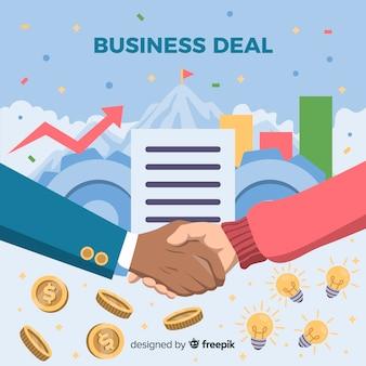 Acuerdo de negocios estrechando la mano