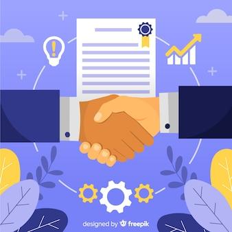 Acuerdo de negocios estrechándose la mano