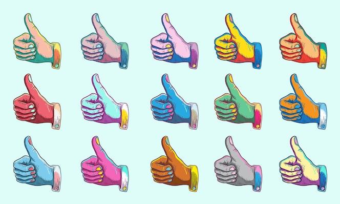 Acuerdo, pulgares arriba, símbolo, concepto