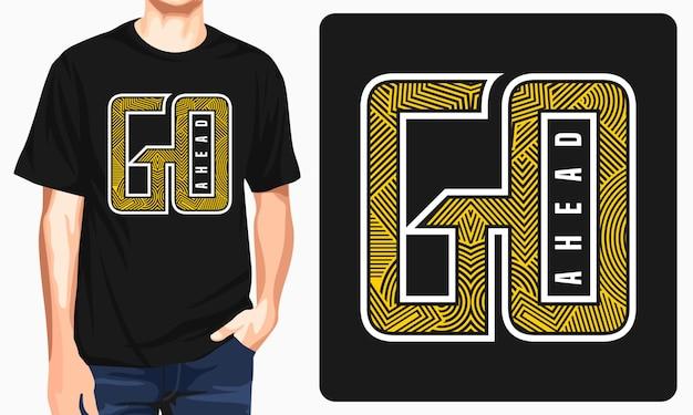 Adelante diseño de camiseta