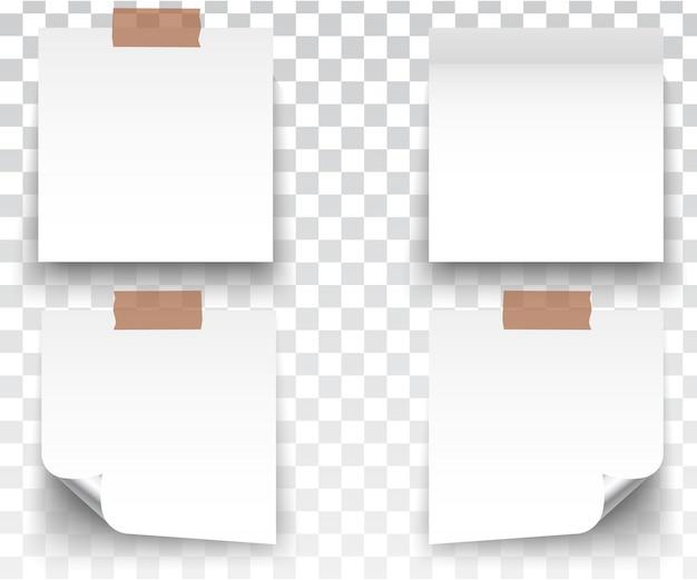 Adhesivos blancos cuadrados