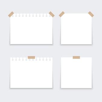 Adhesivos blancos cuadrados.