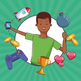 Adolescentes y juegos para smartphone.