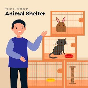 Adopta un animal del refugio