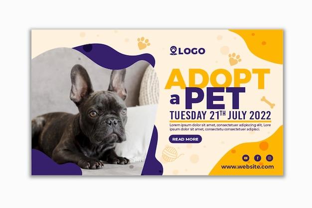 Adopta un banner horizontal para mascotas