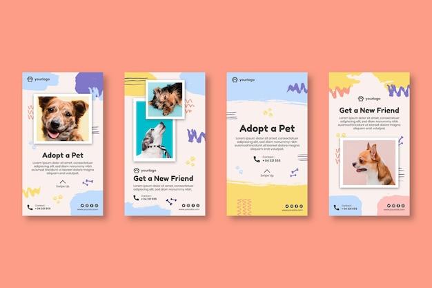 Adopta una colección de historias de instagram de mascotas