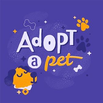 Adopta un concepto de mascota con perro