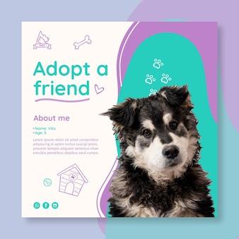 Adopta un cuadrado de flyer para mascotas