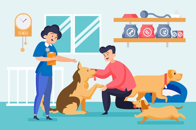 Adopta una ilustración de mascota