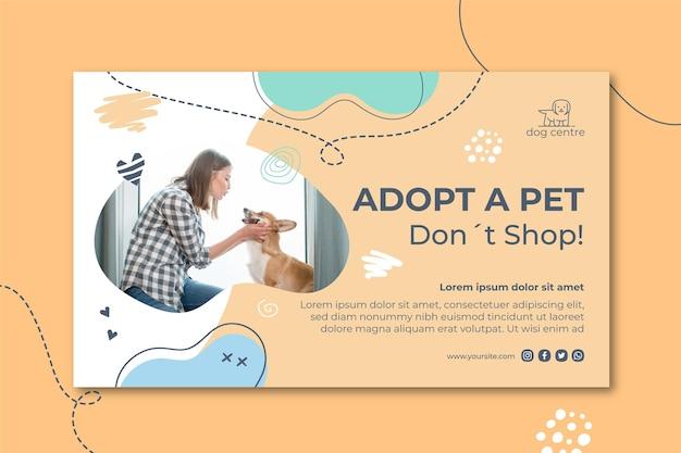 Adopta una plantilla de banner para mascotas