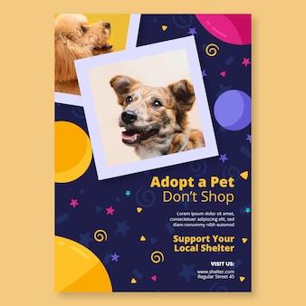 Adopta una plantilla de póster para mascotas