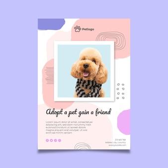Adopta un póster de mascota con lindos animales