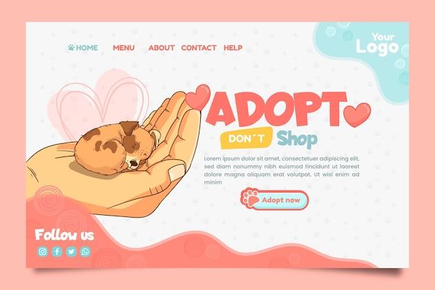 Adopte una página de destino para mascotas