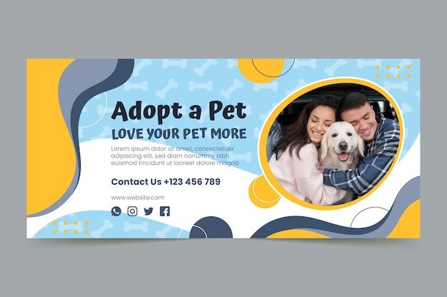 Adopte una plantilla de banner horizontal para mascotas