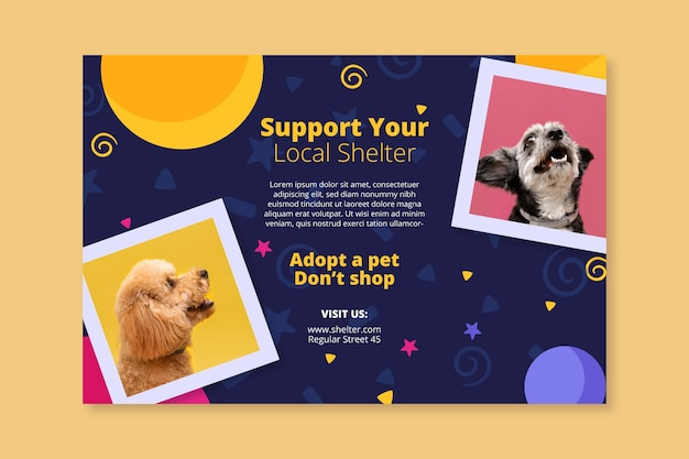 Adopte una plantilla de banner para mascotas