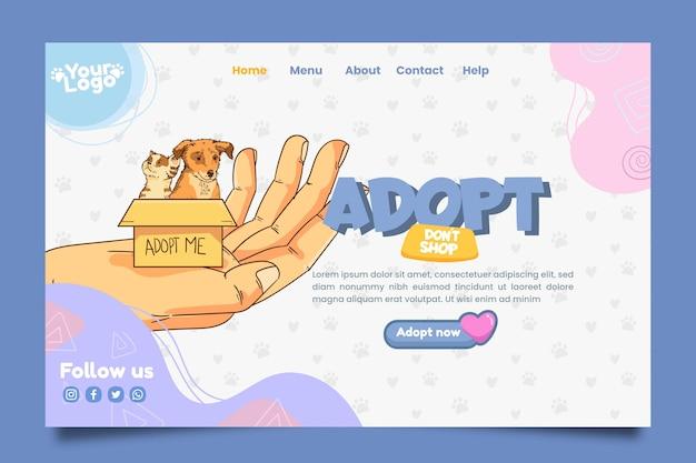 Adopte una plantilla de página de destino para mascotas