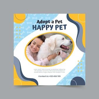 Adopte una plantilla de volante cuadrado para mascotas
