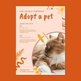 Adopte una plantilla de volante de mascotas