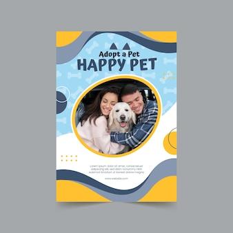 Adopte una plantilla de volante vertical para mascotas