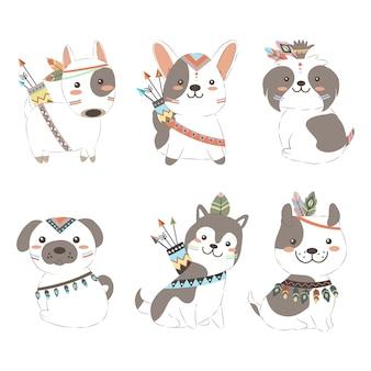 Adorables cachorros de boho