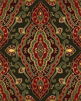 Adorno abstracto oriental. patrón ornamental vintage.