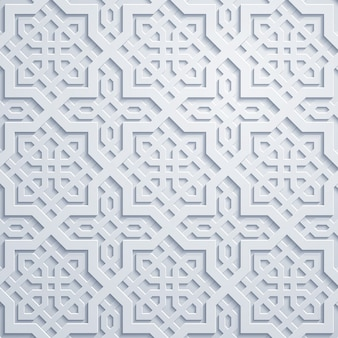 Adorno árabe marruecos patrón geométrico
