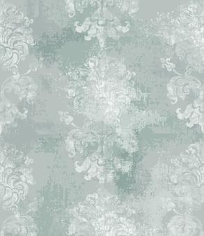 Adorno barroco textura de moda acuarela de lujo