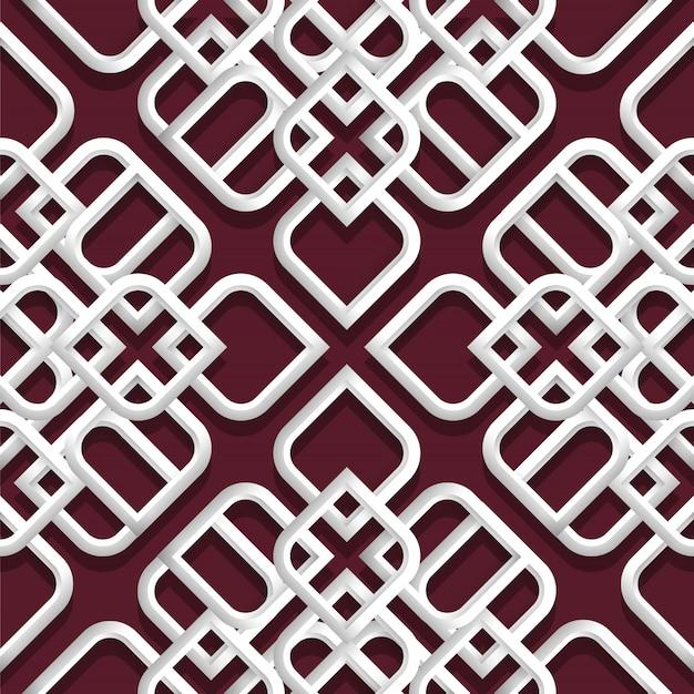 Adorno blanco 3d en estilo árabe