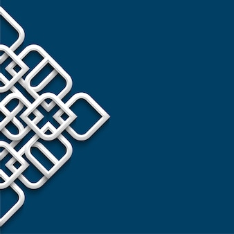 Adorno blanco 3d en estilo arabe