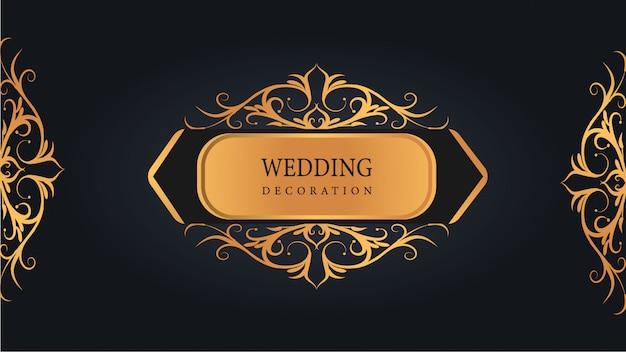 Adorno de boda moderno con arte islámico