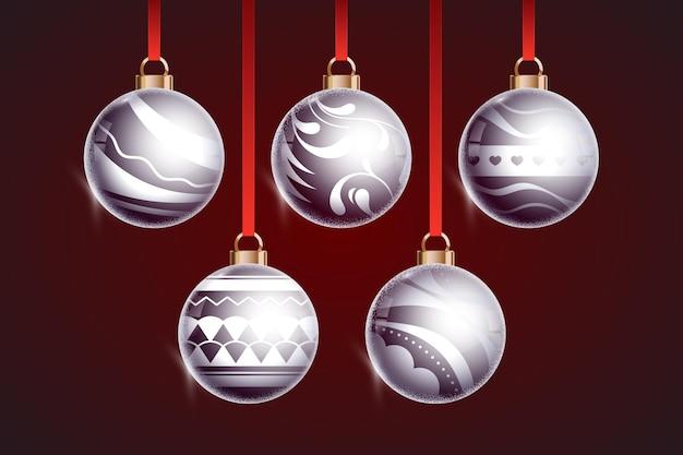 Adorno de bola de navidad de cristal