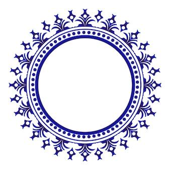 Adorno de cerámica azul redondo