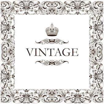 Adorno de decoración de marco vintage