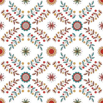 Adorno floral de diamantes en estilo húngaro