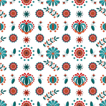 Adorno floral en estilo húngaro.