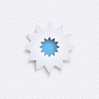 Adorno geométrico en estilo árabe