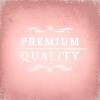 Adorno de insignia de neón vintage en fondo rosa con textura