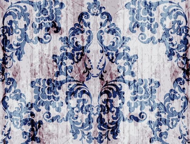 Adorno de lujo de patrón barroco vintage