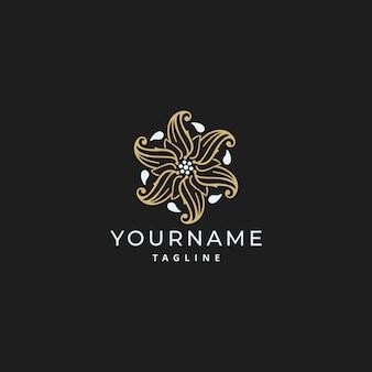 Adorno de lujo simple mandala logo design