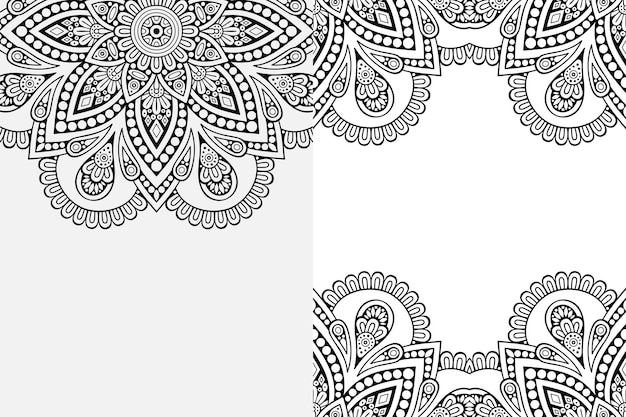 Adorno de mandala. fondo de elementos decorativos vintage