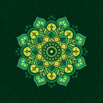 Adorno natural con color verde. creativo y de lujo.