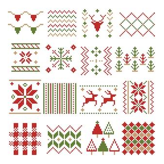 Adorno de pixel de navidad