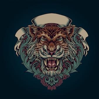 Adorno de tigre
