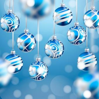 Adornos de bolas de navidad realistas