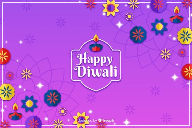 Adornos del festival de diwali fondo dibujado a mano