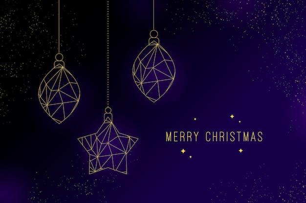 Adornos navideños sobre fondo oscuro