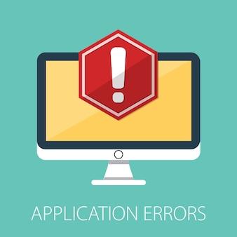 Advertencia de alerta roja de datos no deseados