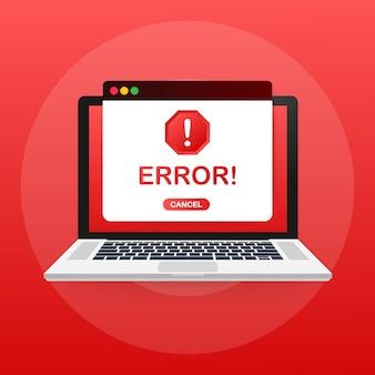 Advertencia de error del sistema operativo de windows.